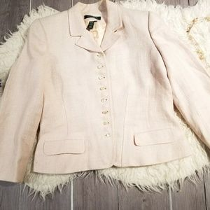 Ralph Lauren Women Sz 12P Blush Pink Jacket